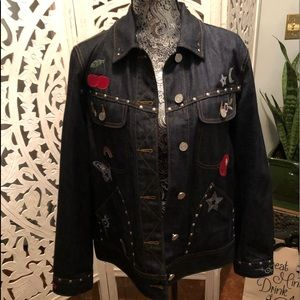 Coach Fun Patchwork Denim Jacket